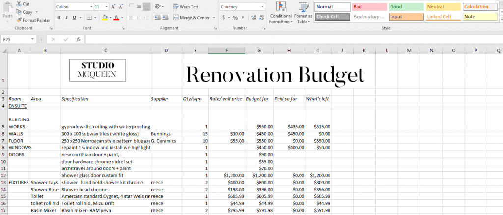 How to budget for your renovation