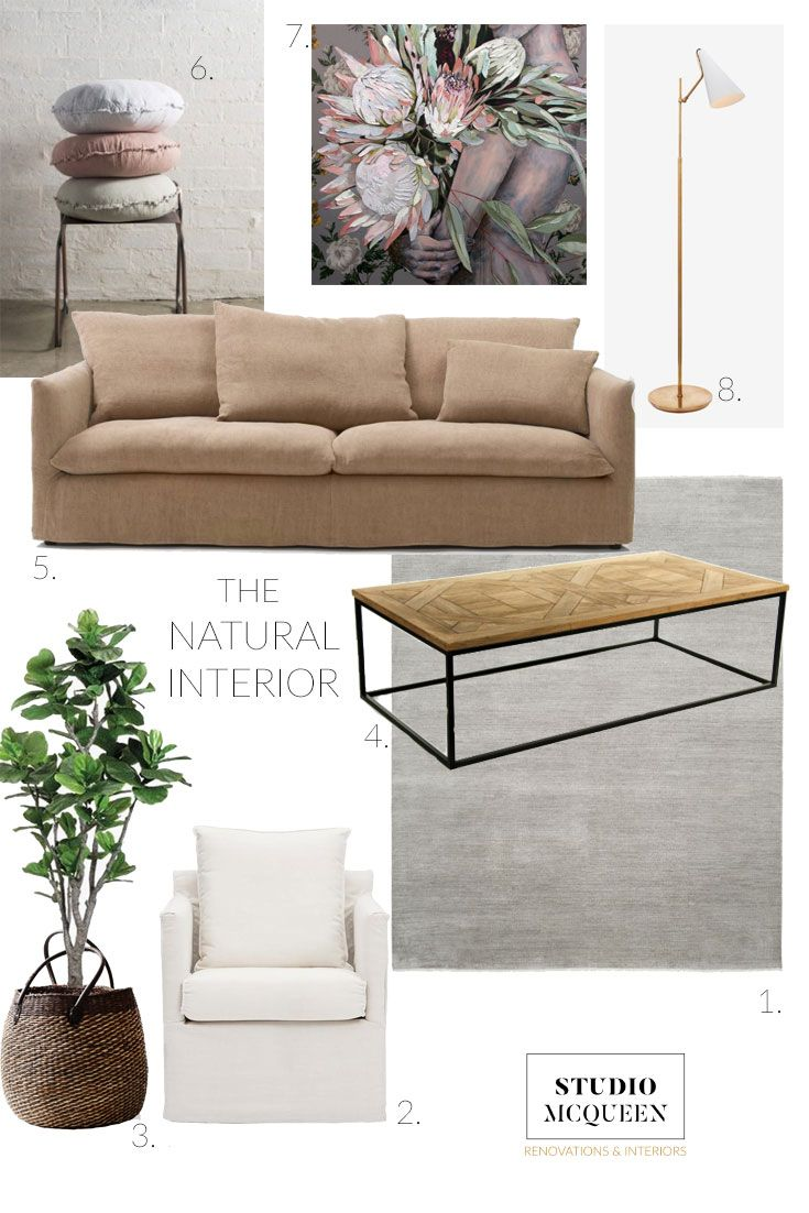 Top Design Trends in Australian Homes & Interiors; here's a moodboard I put together where I think Interiors are moving towards, it's all about going back to natural materials, non toxic furnishings and embracing local artists. By Melinda McQueen for StudioMcQueen.com