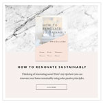 free eBook How to renovate sustainably with a sense of style by Studio McQueen (Perth Renovations)