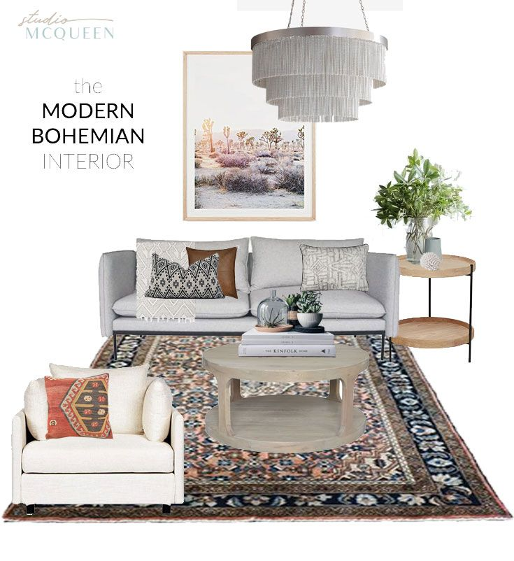 How to create a gorgeous bohemian Lounge Roon by Studio McQueen Interiors Perth WA